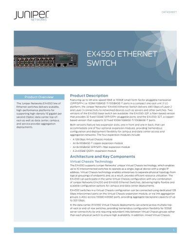 EX4550 Ethernet Switch