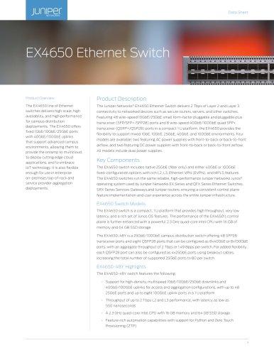 EX4650 Ethernet Switch
