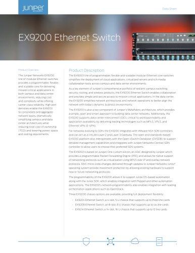 EX9200 Ethernet Switch