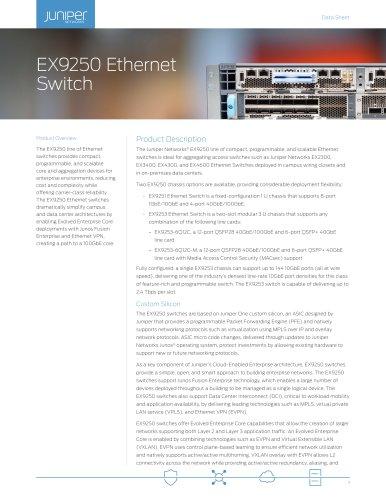 EX9250 Ethernet Switch