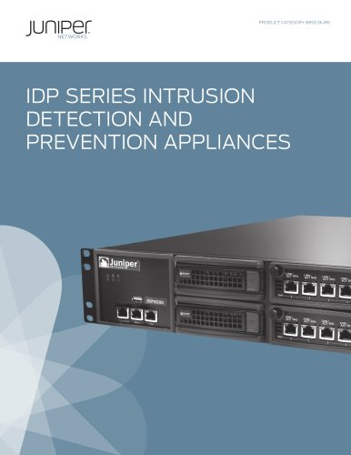 IDP Series Intrusion Detection and Prevention Appliances