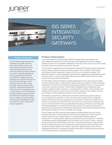 ISG Series Integrated Security Gateways