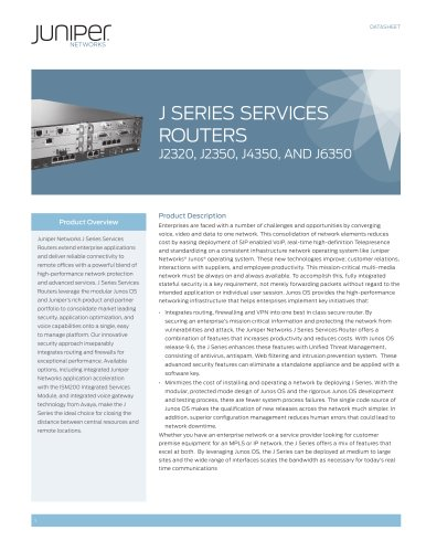 J Series Services Routers