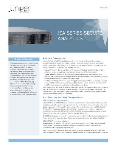 JSA Series Secure Analytics