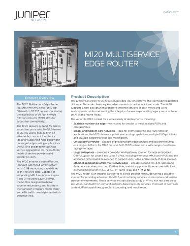 M120 Multiservice Edge Router