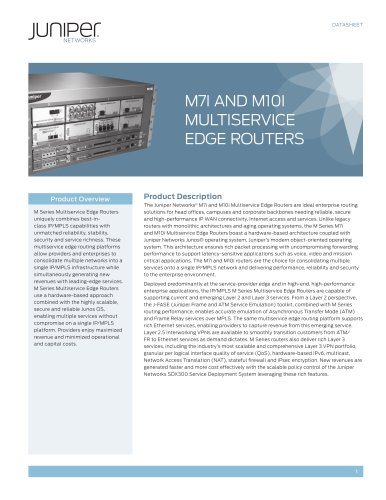 M7i and M10i Multiservice Edge Routers