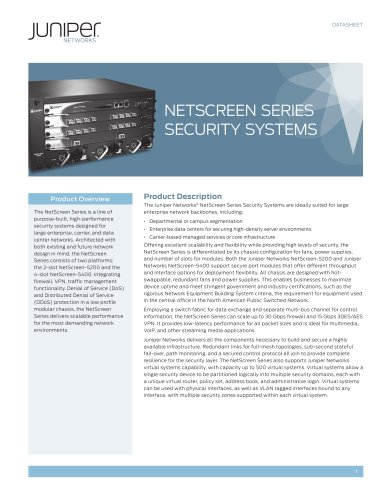 NetScreen Series Security Systems