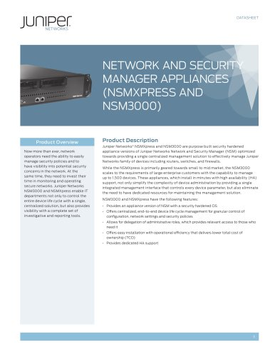 Network and Security Manager Appliances (NSMXpress and NSM3000)