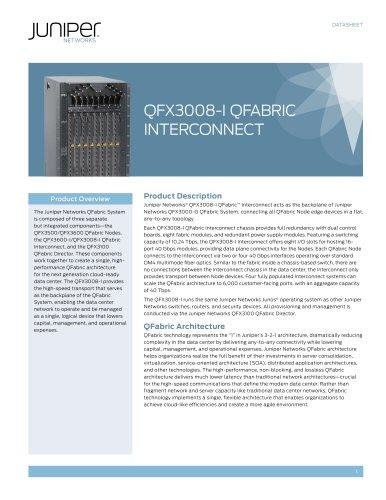 QFX3008-I QFabric Interconnect