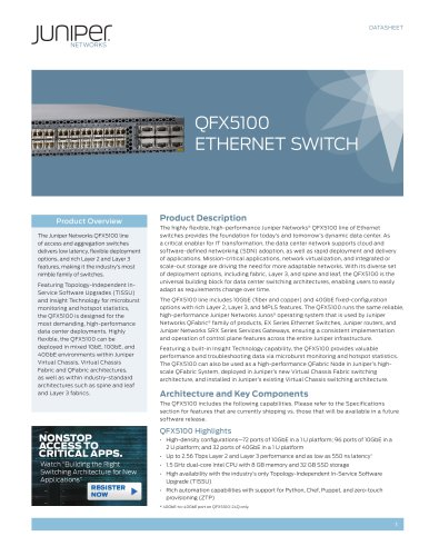 QFX5100 Ethernet Switch