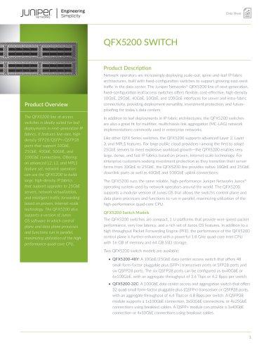QFX5200 SWITCH