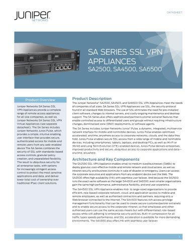SA Series SSL VPN Appliances (SA2500, SA4500, SA6500)