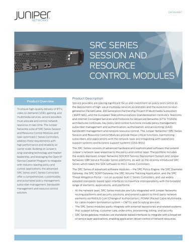 SRC Series Session and Resource Control Modules