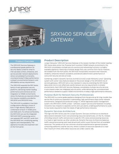 SRX1400 Services Gateway