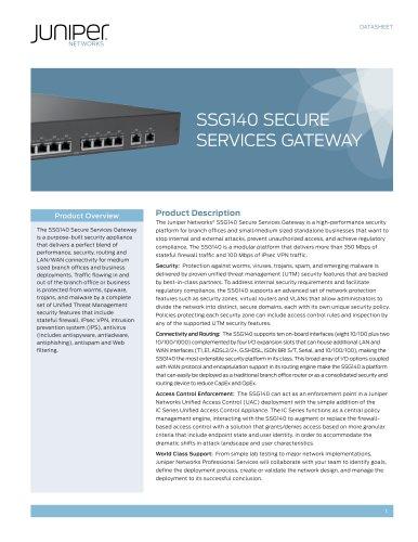 SSG140 Secure Services Gateway