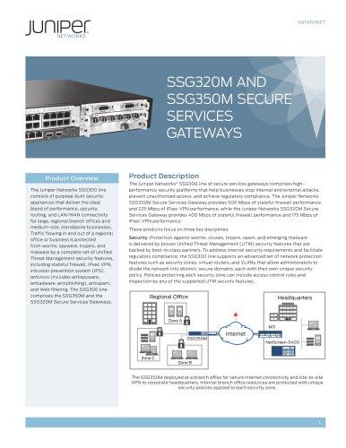 SSG320M and SSG350M Secure Services Gateways