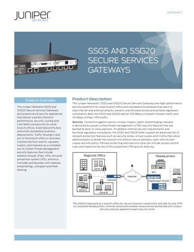 SSG5 and SSG20 Secure Services Gateways