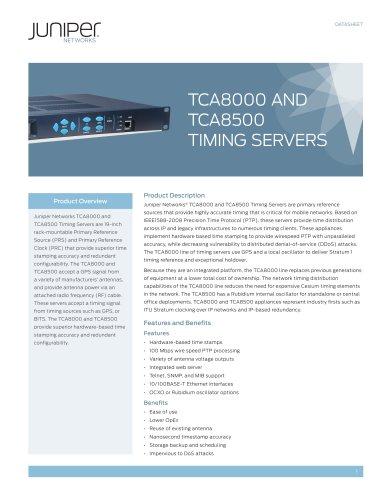 TCA8000 and TCA8500 Timing Servers