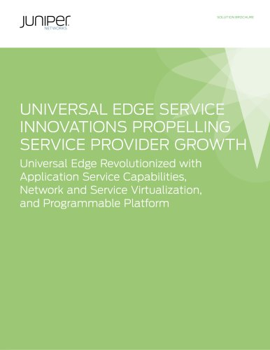 Universal Edge Service Innovations Propelling Service Provider Growth