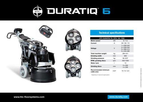 HTC DURATIQ 6 - Technical data sheet  - EN