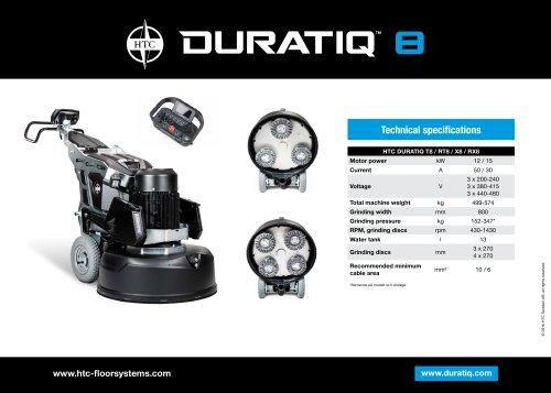 HTC DURATIQ 8 - Technical data sheet  - EN