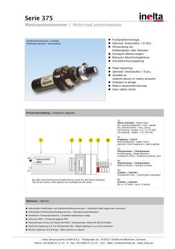 motorized potentiometer Serie 375
