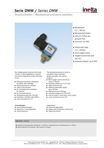 pressure switch  Series DMW
