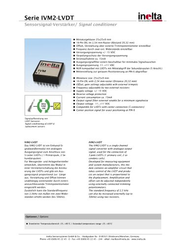 Series IVM2 - PCB (THT) Mounting - Miniature design