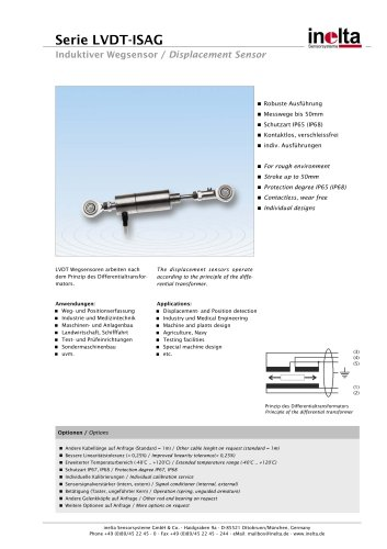 Standard Displacement sensors Type: ISAG