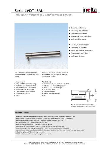 Standard Displacement sensors Type: ISAL