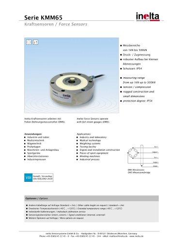 Standard Force sensors Type: KMM65