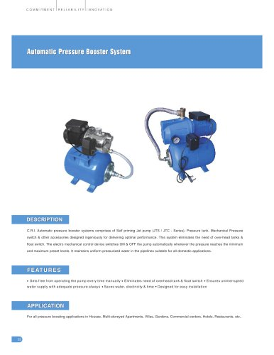 Automatic Pressure Booster Systems