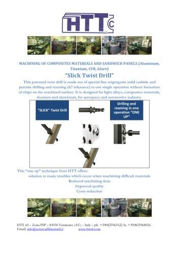 """Slick"" drill for composite materials"