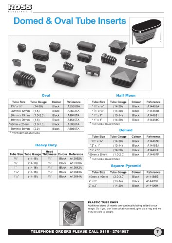 Domed & Oval Inserts, Half Moon Inserts. Square Pyramid Inserts