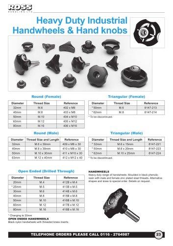 Heavy Duty Industrial Handwheels & Star Knobs