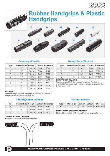 Rubber Handgrips, Plastic Handgrips & PVC Handgrips