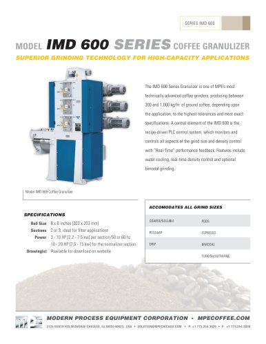 IMD 600 SERIES COFFEE GRANULIZER