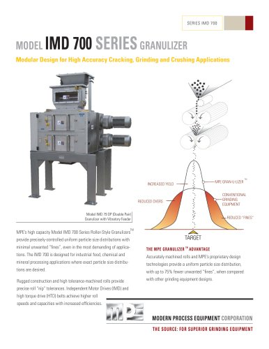 MODEL IMD 700 SERIES GRANULIZER
