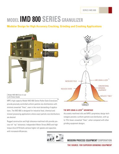 MODEL IMD 800 SERIES GRANULIZER