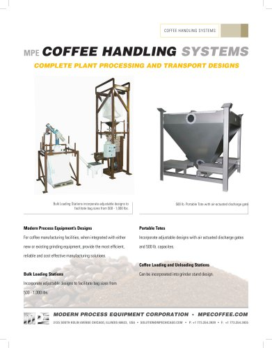 MPE COFFEE HANDLING SYSTEMS