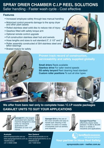 SPRAY DRIER CHAMBER C.I.P REEL SOLUTIONS