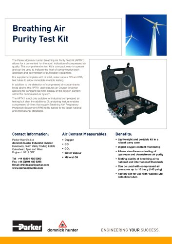 Breathing Air Purity Test Kit