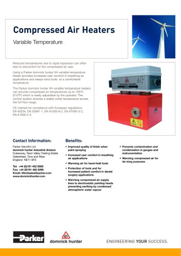 Compressed Air Heaters