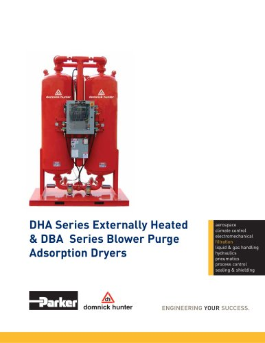 DHA Series Externally Heated & DBA Series Blower Purge Adsorption Dryers
