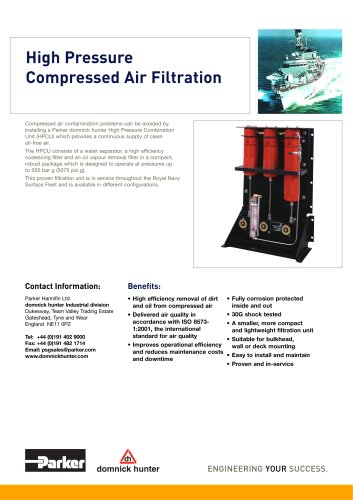 High Pressure Compressed Air Filtration