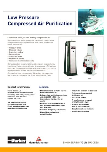 Low Pressure Compressed Air Purification