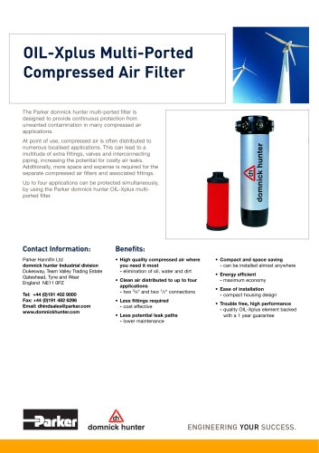 OIL-Xplus Multi-Ported Compressed Air Filter
