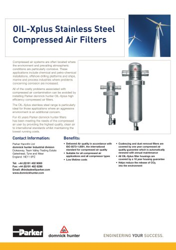 OIL-Xplus Stainless Steel Compressed Air Filters