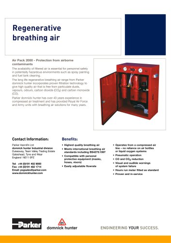 Regenerative breathing air
