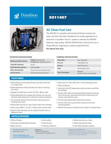 Clean Fuel Cart X011407
